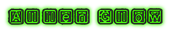 Font Rubber Hell Alien Glow Logo Preview