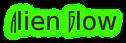 Font Runy-Tunes Alien Glow Logo Preview