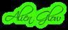 Font Scriptina Alien Glow Logo Preview