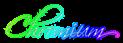Font Scriptina Chromium Logo Preview