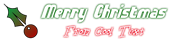 Font Sideways Christmas Symbol Logo Preview