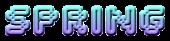 Font Silkscreen Spring Logo Preview
