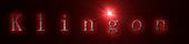 Font 新宋体 Sim Sun Klingon Logo Preview