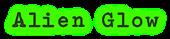 Alien Glow Logo Style
