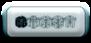 Font THR D LET Ghost Button Logo Preview