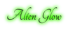 Font Tangerine Alien Glow Logo Preview