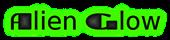 Font TaraBulbous Alien Glow Logo Preview