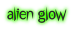 Font Under Alien Glow Logo Preview