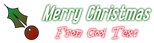 Font Vibrolator Christmas Symbol Logo Preview