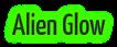 Font Yanone Kaffeesatz Alien Glow Logo Preview