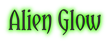 Font Yataghan Alien Glow Logo Preview