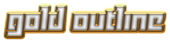 Font Yukarimobile Gold Outline Logo Preview