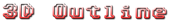 Font Adore64 3D Outline Gradient Logo Preview