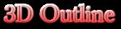 Font Baskerville 3D Outline Gradient Logo Preview