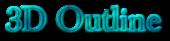 Font Baskerville 3D Outline Textured Logo Preview