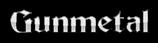 Font Becker Gunmetal Logo Preview