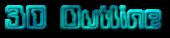 Font Computerfont 3D Outline Textured Logo Preview