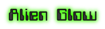 Font Computerfont Alien Glow Logo Preview