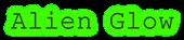 Font Courier Alien Glow Logo Preview