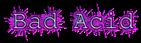 Font Courier Bad Acid Logo Preview