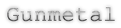 Font Courier Gunmetal Logo Preview