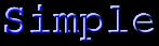 Font Courier Simple Logo Preview