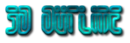 Font Fedyral 3D Outline Textured Logo Preview