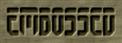 Font Fedyral Embossed Logo Preview