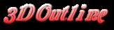 Font Galathea 3D Outline Gradient Logo Preview