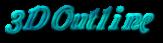 Font Galathea 3D Outline Textured Logo Preview
