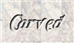 Font Galathea Carved Logo Preview