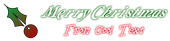 Font Galathea Christmas Symbol Logo Preview