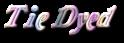 Font Galathea Tie Dyed Logo Preview