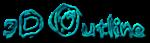 Font Grunge 3D Outline Textured Logo Preview