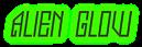 Font Jealousy Alien Glow Logo Preview