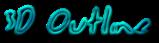 Font Jessescript 3D Outline Textured Logo Preview