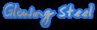 Font Jessescript Glowing Steel Logo Preview
