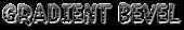 Font Jokewood Gradient Bevel Logo Preview