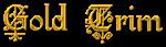 Font Kelly Ann Gothic Gold Trim Logo Preview