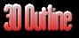 Font Labtop 3D Outline Gradient Logo Preview