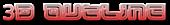 Font Leftovers 3D Outline Gradient Logo Preview