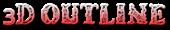Font Letters Animales 3D Outline Gradient Logo Preview
