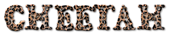 Font Letters Animales Cheetah Logo Preview