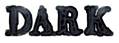 Font Letters Animales Dark Logo Preview