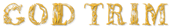 Font Letters Animales Gold Trim Logo Preview