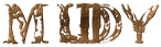 Font Letters Animales Muddy Logo Preview
