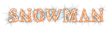 Font Letters Animales Snowman Logo Preview