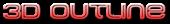 Font MetroDF 3D Outline Gradient Logo Preview