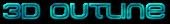 Font MetroDF 3D Outline Textured Logo Preview