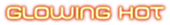 Font MetroDF Glowing Hot Logo Preview